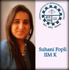 Suhani Popli CAT Topper in IIM Kozhikode