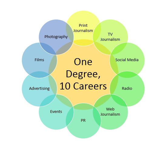 a focus on the career option of journalism