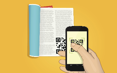 Text books with QR Codes