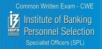 IBPS CWE Specialist Officers (SPL)