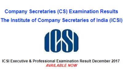 ICSI Professional and Executive Results Out 2018