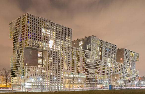 Simmons hall, hostel of MIT Cambridge - best engineering college in USA