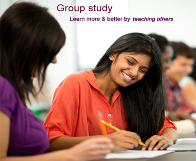 Group study - learn by teaching others