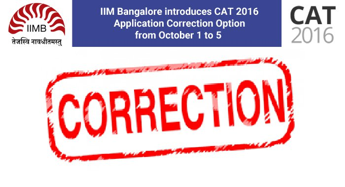 CAT 2016 error correction