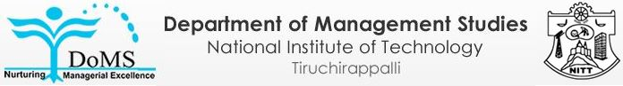 Department of Management Sciences, NIT Tiruchirapalli